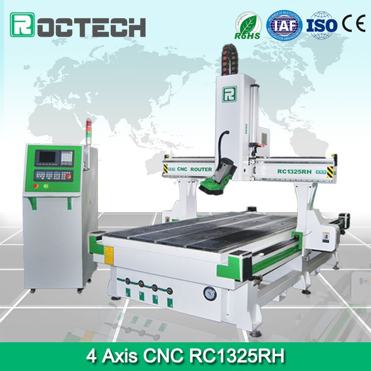 Higher Quality 4 Axis Cnc Router Machine Rc 1325rh Roctech